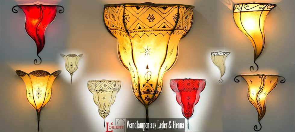 Wandlampen aus Leder & Henna