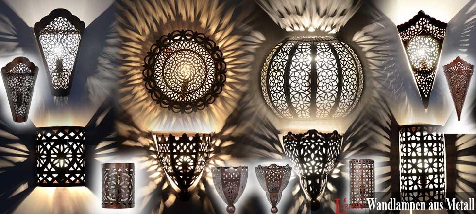 Wandlampen aus Metall
