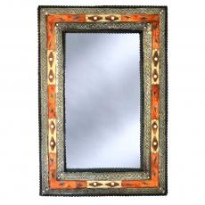Marokkanischer Spiegel Essaouira – Orange / Weiß H 80 cm