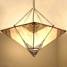 Orientalische Deckenlampe Pyramid Natur H 45 cm