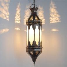 Arabische Deckenlampe Grancanaria Natur H 60 cm