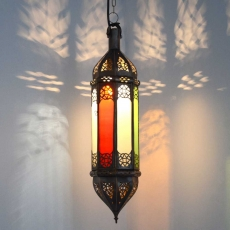 Orientalische Lampe Palma Bunt H 60 cm