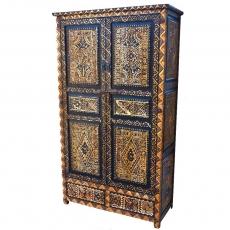Marokkanischer Schrank Ouarzazate Handgeschnitzt Zedernholz H 200 cm
