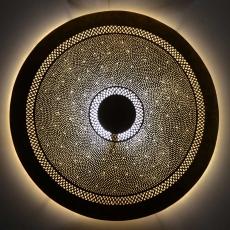 Messing Wandlampe Kreis Big D 80 cm