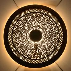 Wandlampe Ring aus Messing D 60 cm