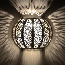 Orientalische Wandlampe KWKS Silber