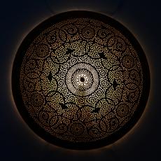 Orientalische Wandlampe Home Big aus Messing D 80 cm