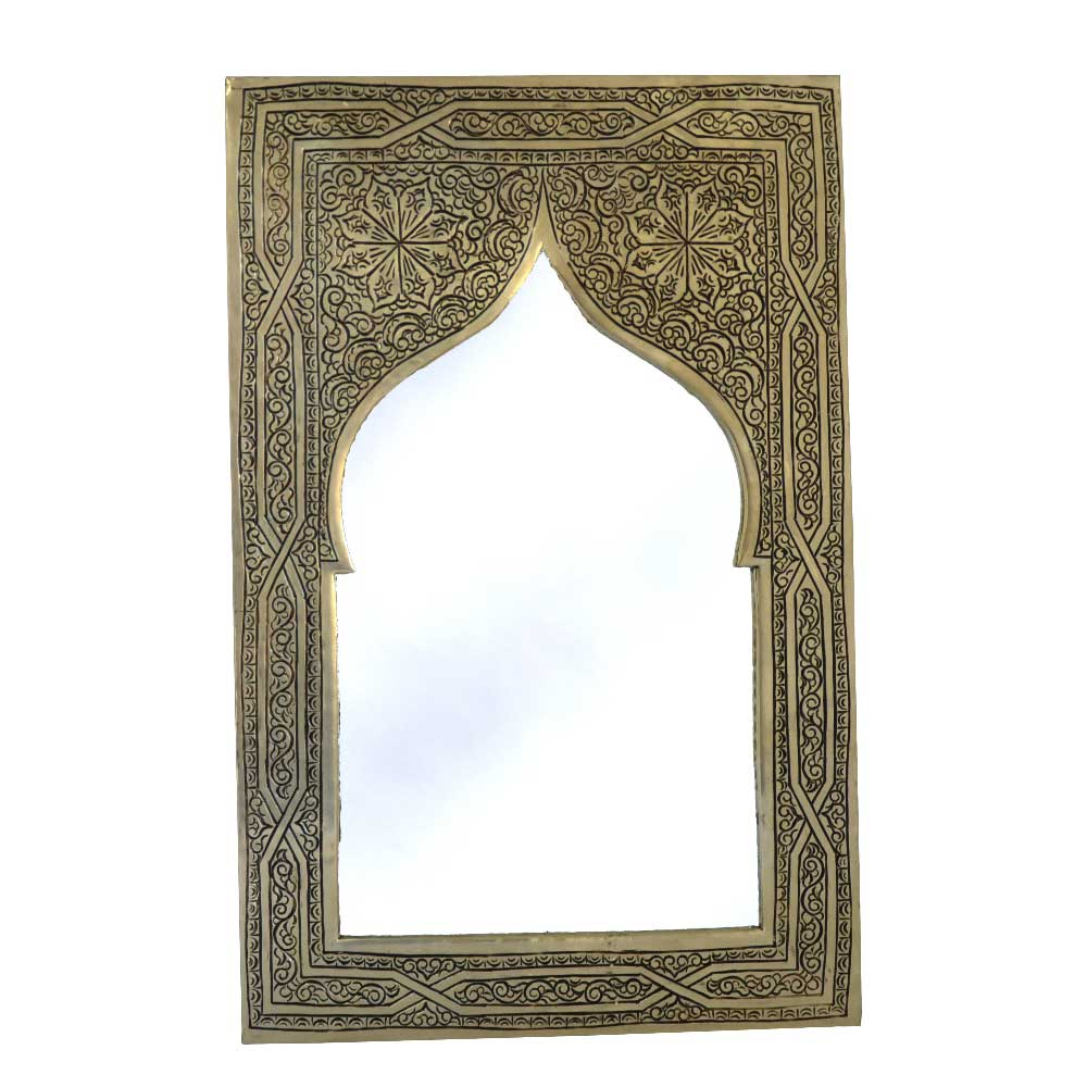 orientalischer spiegel s07 aus versilbertem messing h28cm. Black Bedroom Furniture Sets. Home Design Ideas