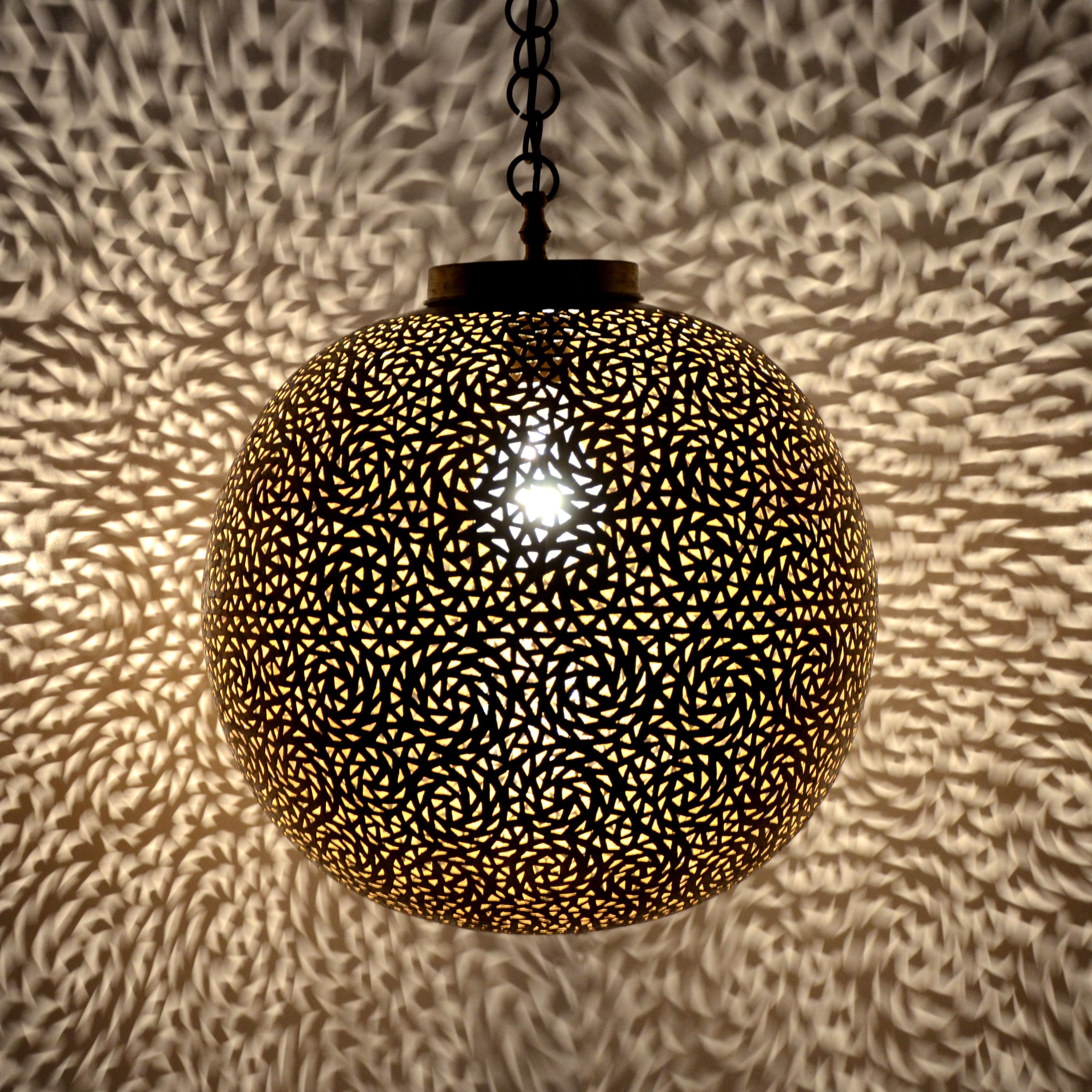 Orientalische messinglampe mkl d40cm l for Orientalische messinglampe
