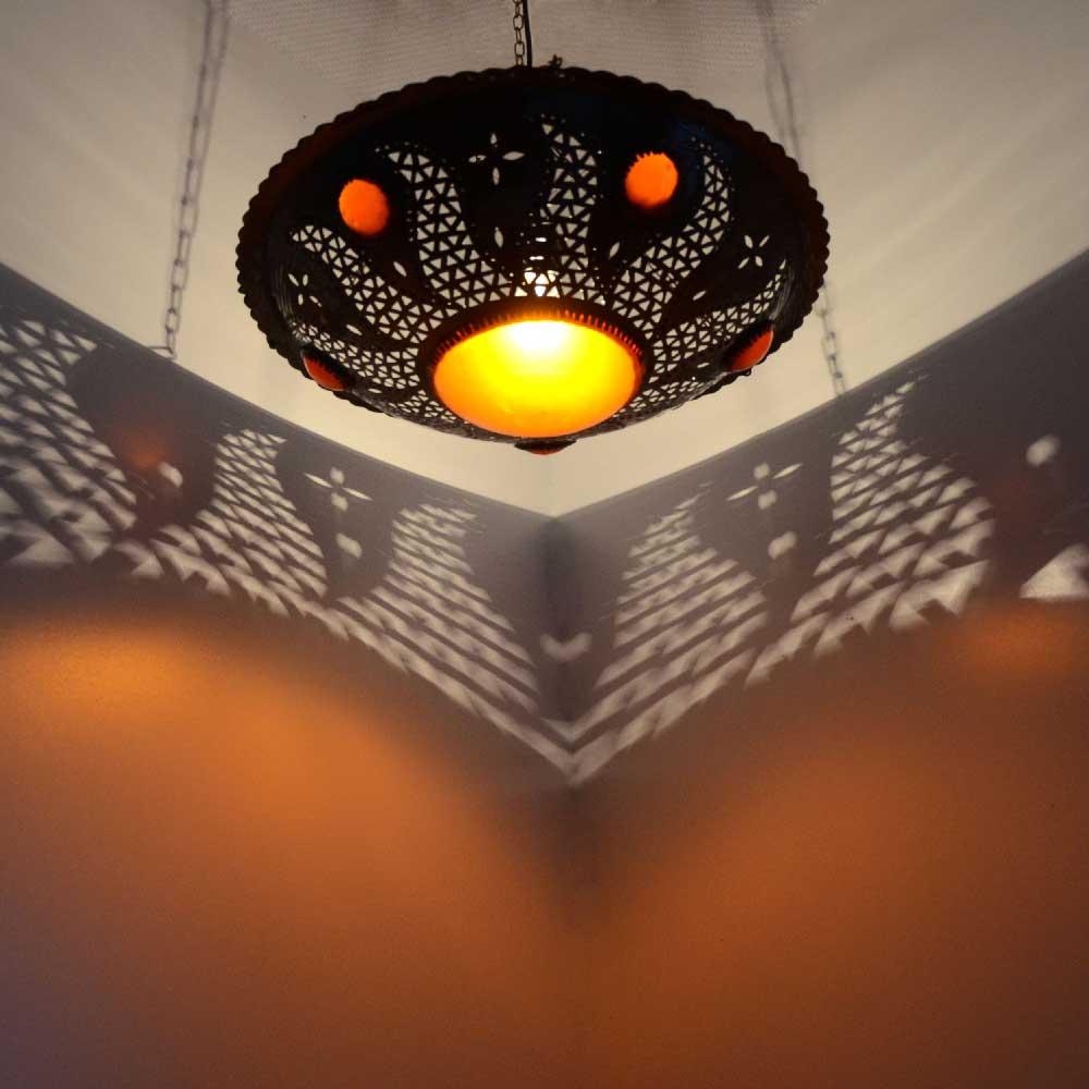Orientalische lampe h ngeleuchte metall l for Orientalische wandlampen metall