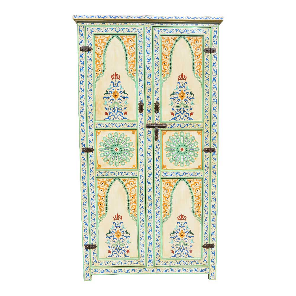 Orientalische Möbel, Marokkanischer Schrank Holz Orient - l-orient.de