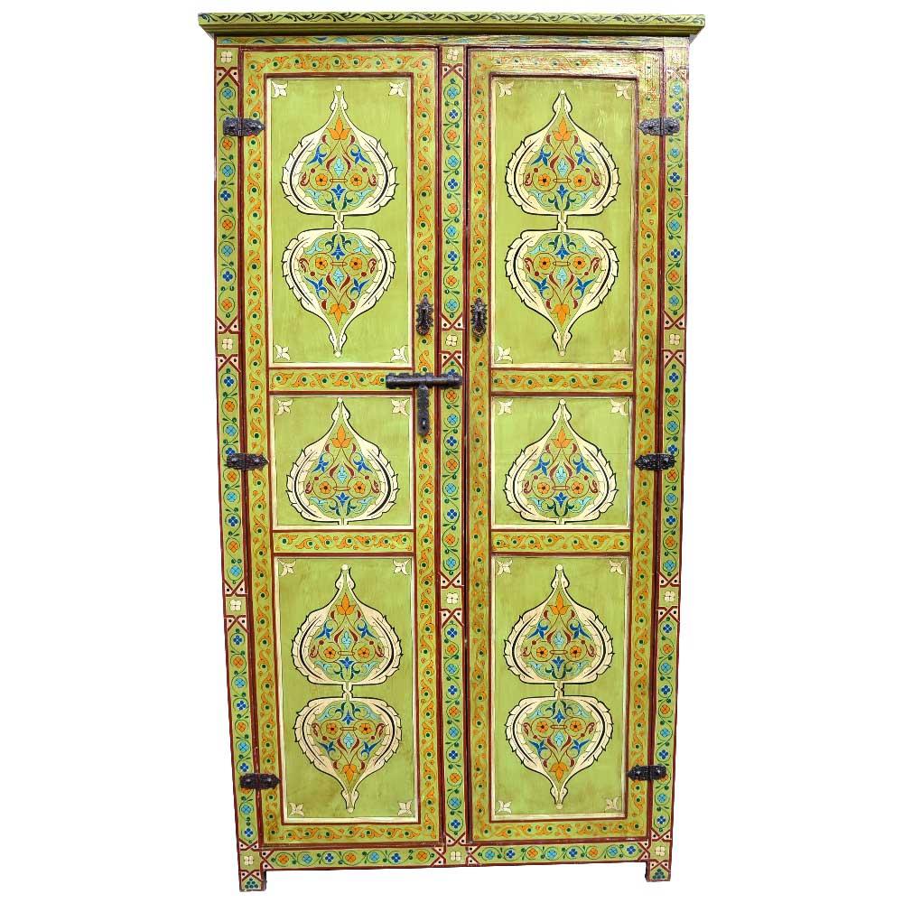 Orientalischer Schrank Aus Vollholz Traditionelle Handarbeit L