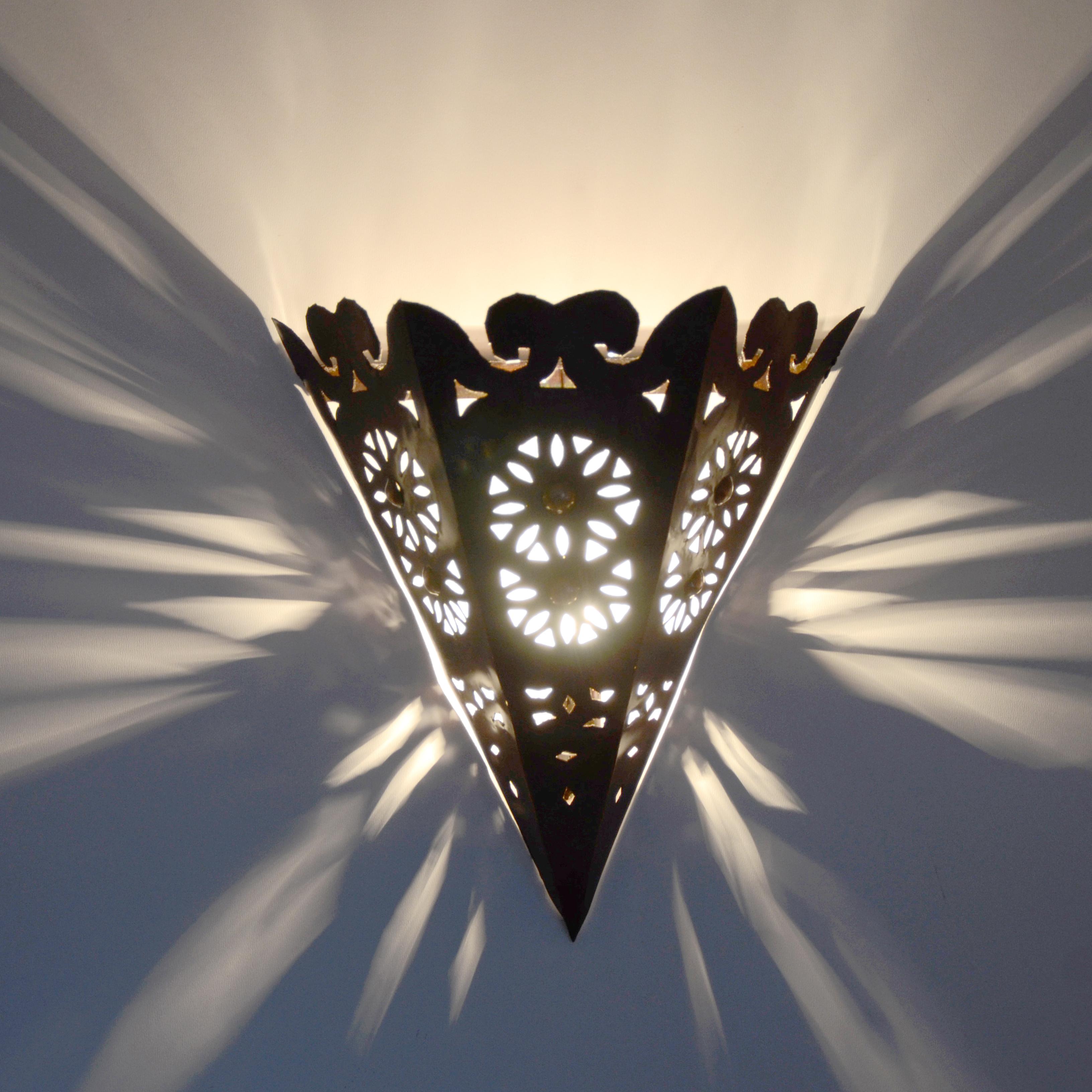 Marokkanische wandlampe aus metall mw15 l for Marokkanische wandlampe