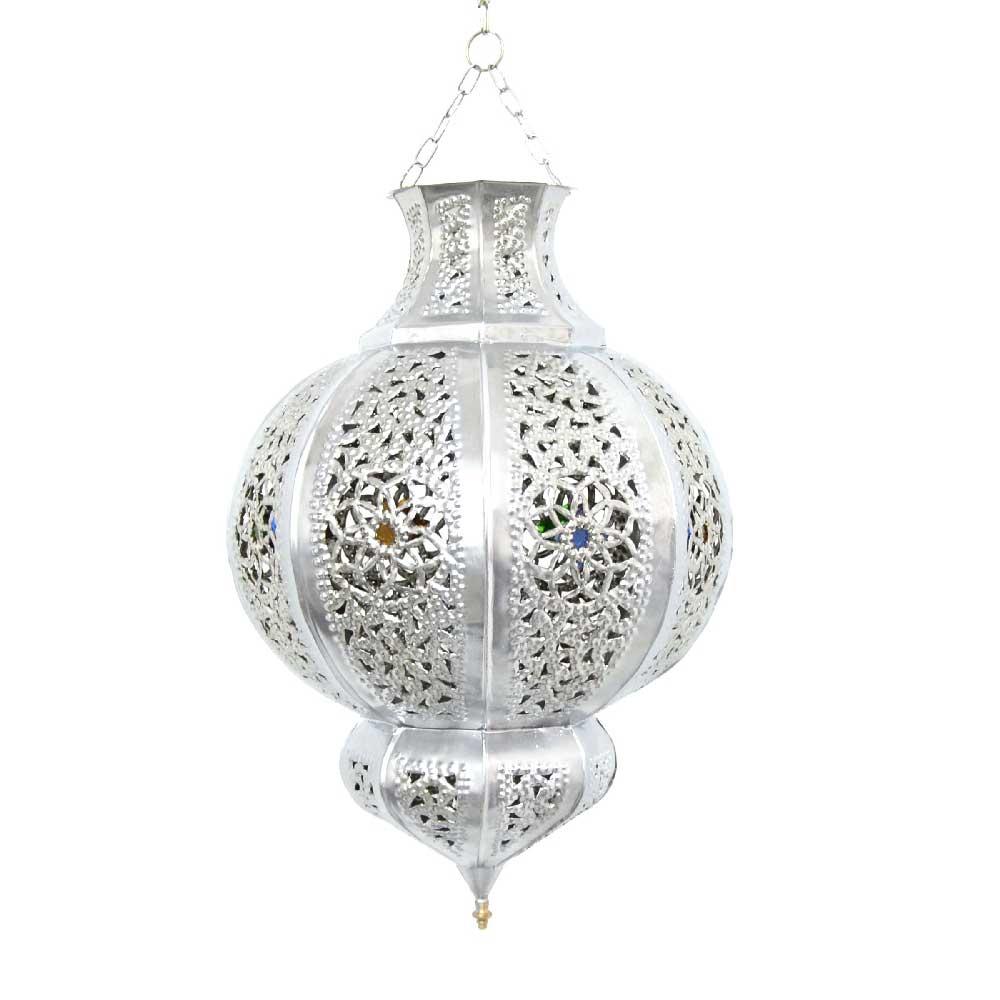 marokkanische lampe khyg s silber 100 handarbeit l. Black Bedroom Furniture Sets. Home Design Ideas
