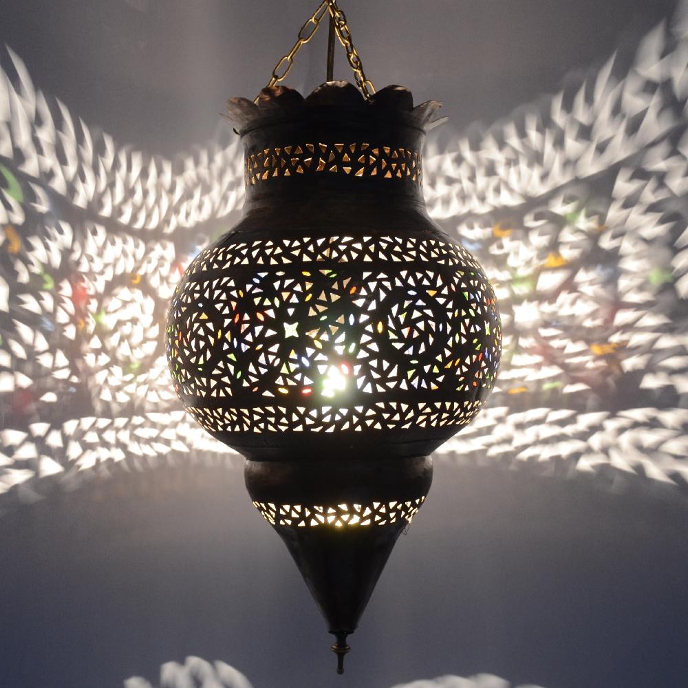 orientalische lampe aus messing 100 handarbeit l