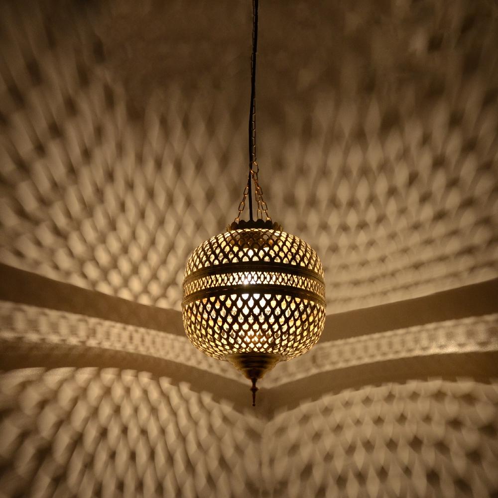 orientalische lampe aus messing mhk 40cm l. Black Bedroom Furniture Sets. Home Design Ideas