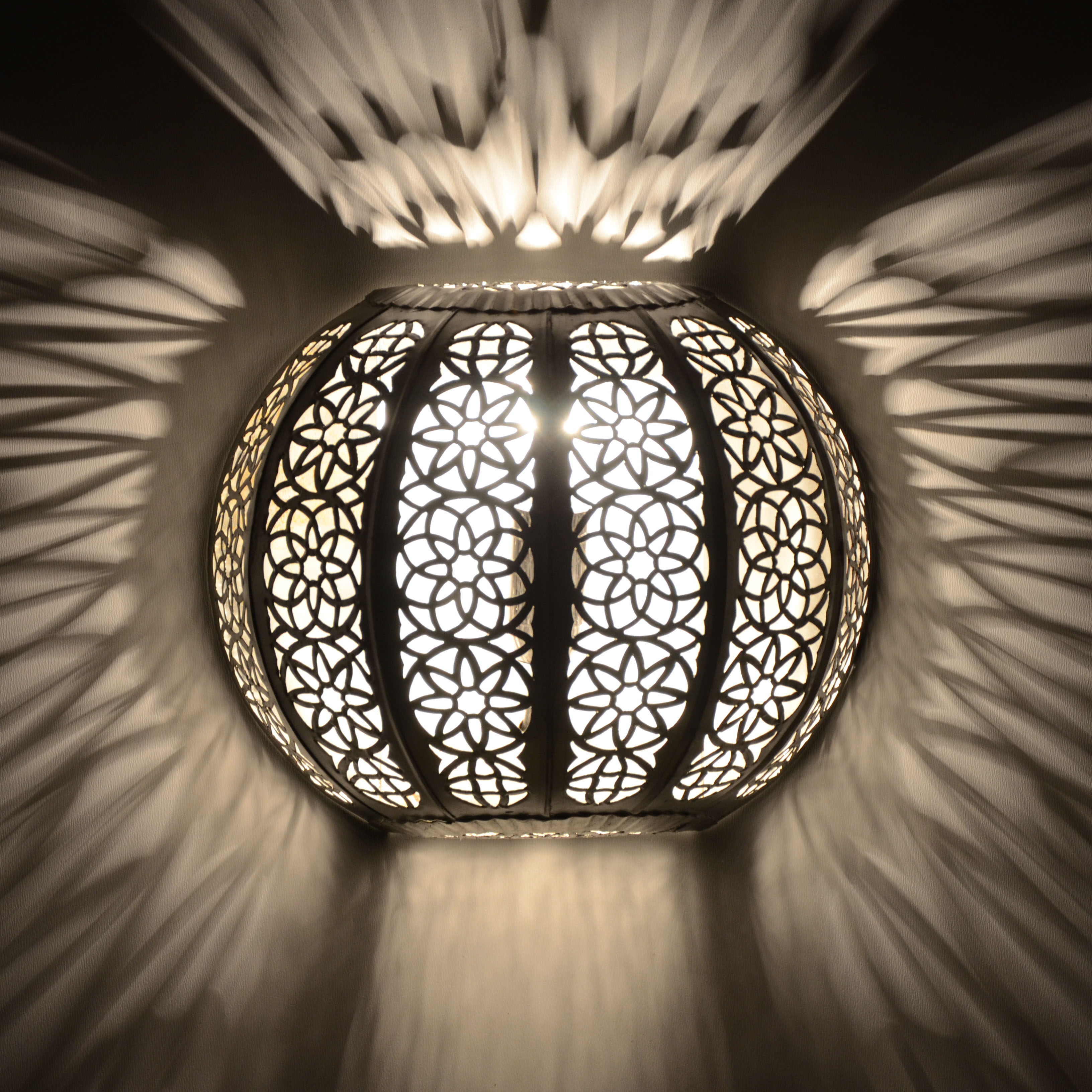 orientalische wandlampe kwks silber l 39 orient. Black Bedroom Furniture Sets. Home Design Ideas