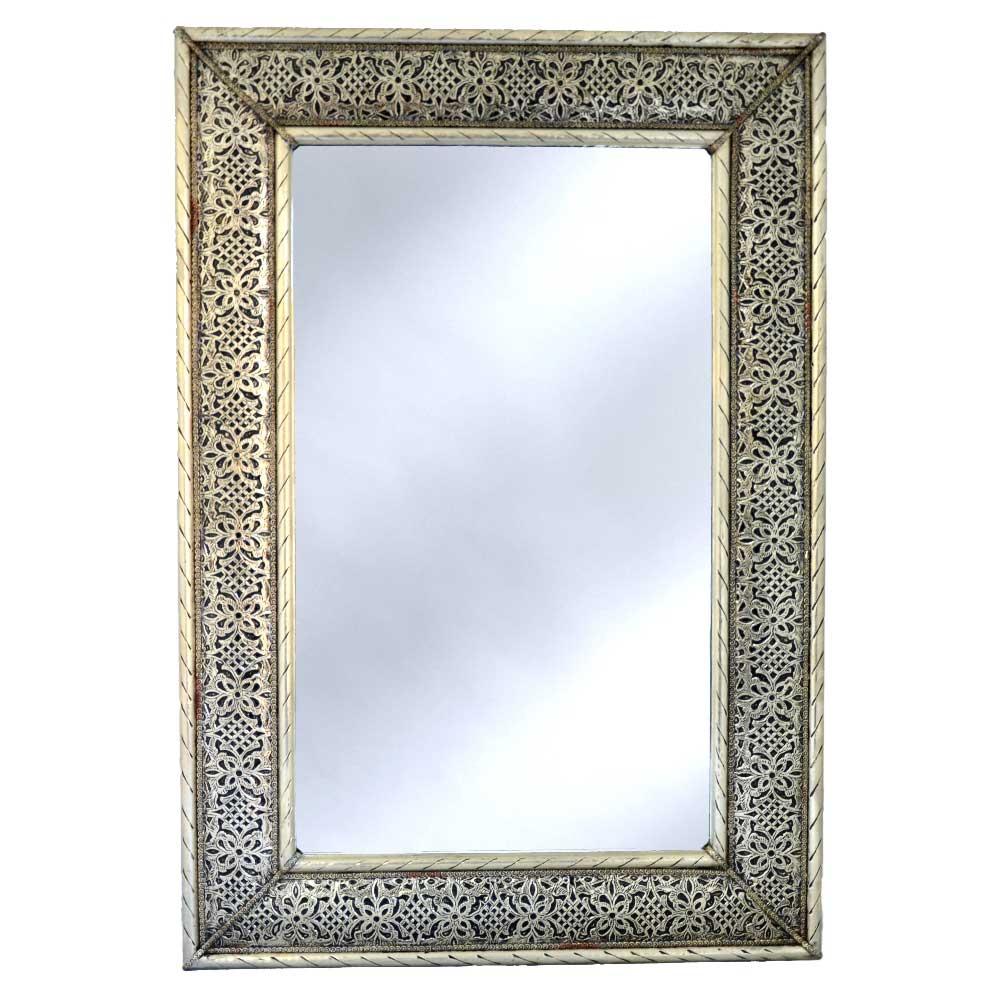 Orientalischer Marokko Spiegel Silber 80 Cm 50 Cm Online Kaufen L