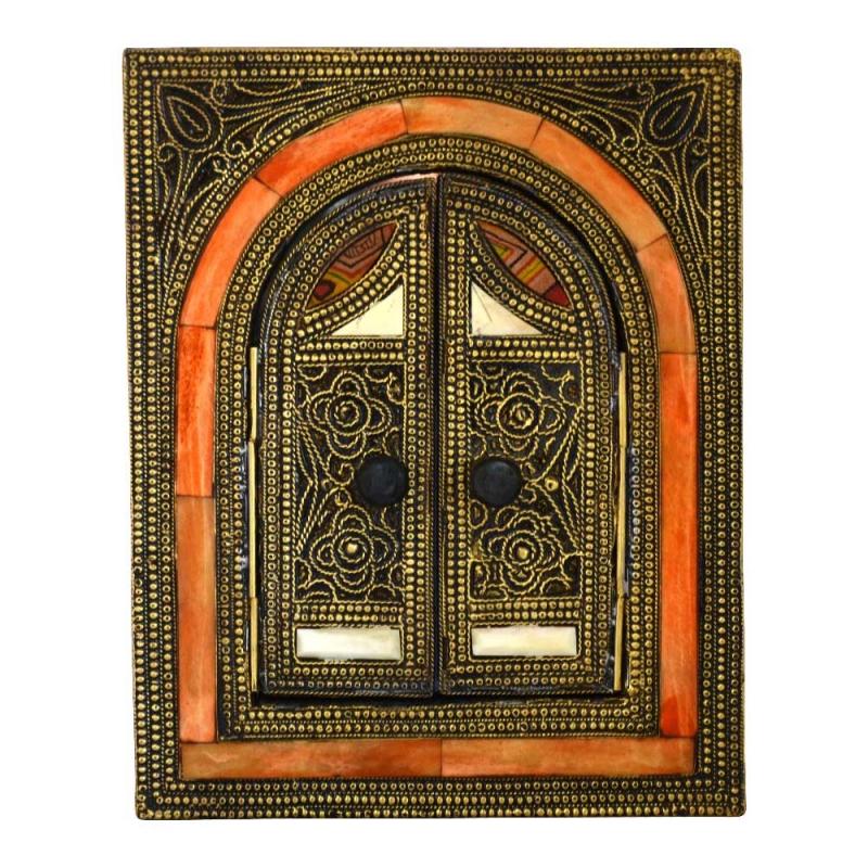 Arabischer Spiegel Thalia – Vollholz / Messing H 24,50 cm
