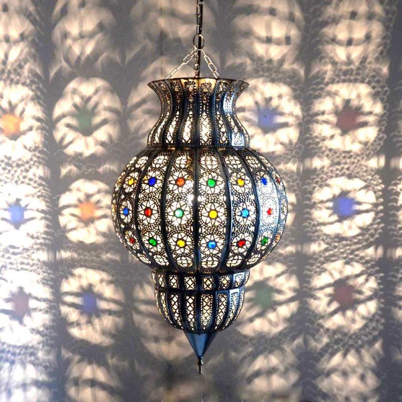 Orientalische Deckenleuchte KKCH Silber
