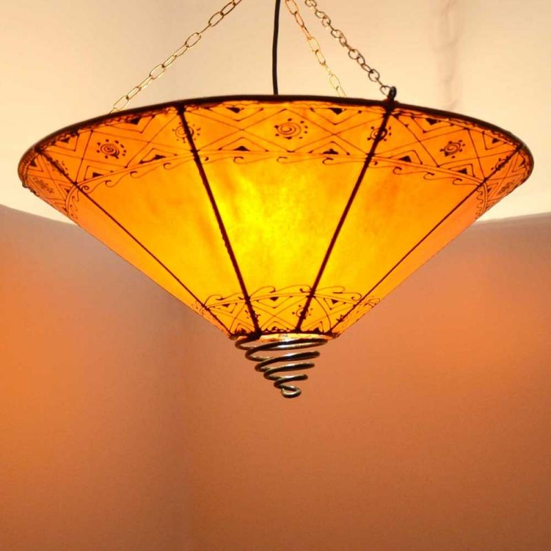 Marokkanische Lederlampe LHR Orange