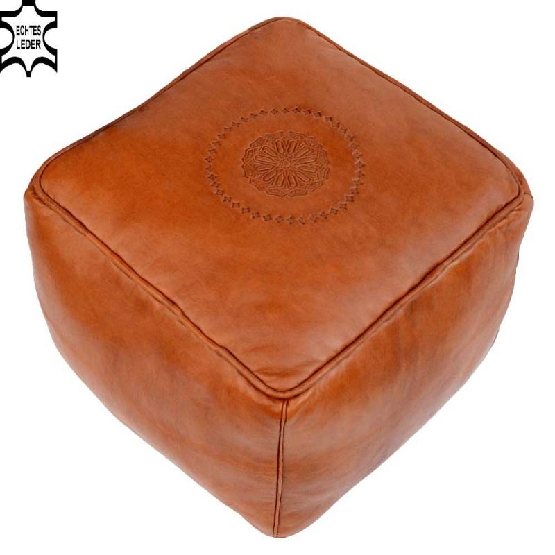 Orientalisches Leder Sitzkissen LSRQ