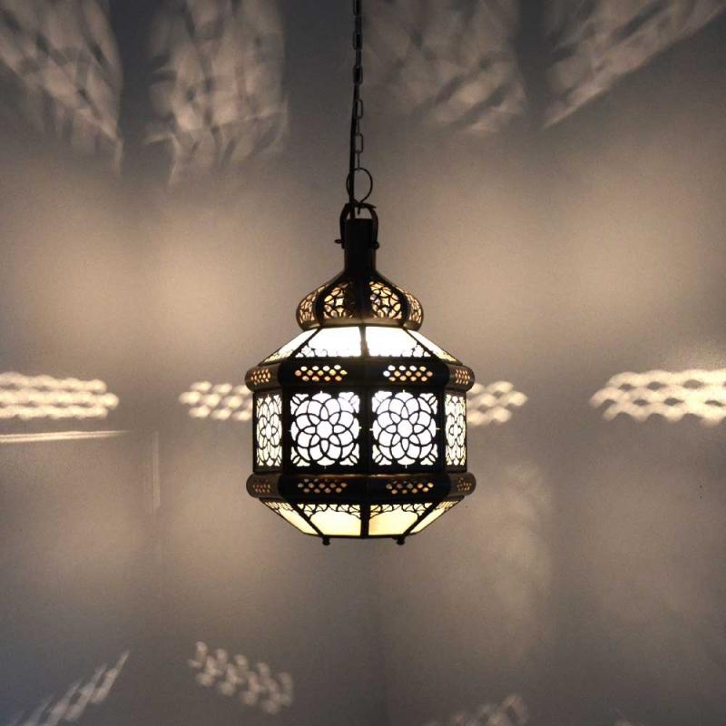 Marokkanische Lampe GHTF_W Milchglas