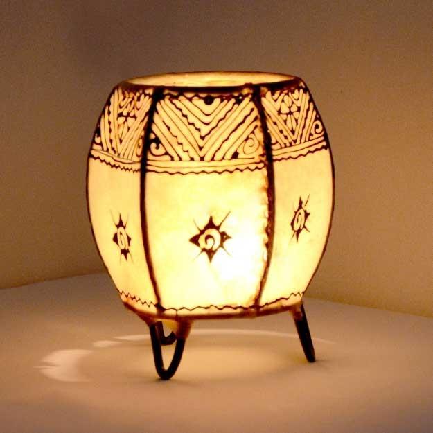 Orientalisches Windlicht Bermil Weiß