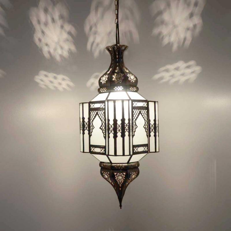Arabische Deckenlampe Alome Milk H 65 cm