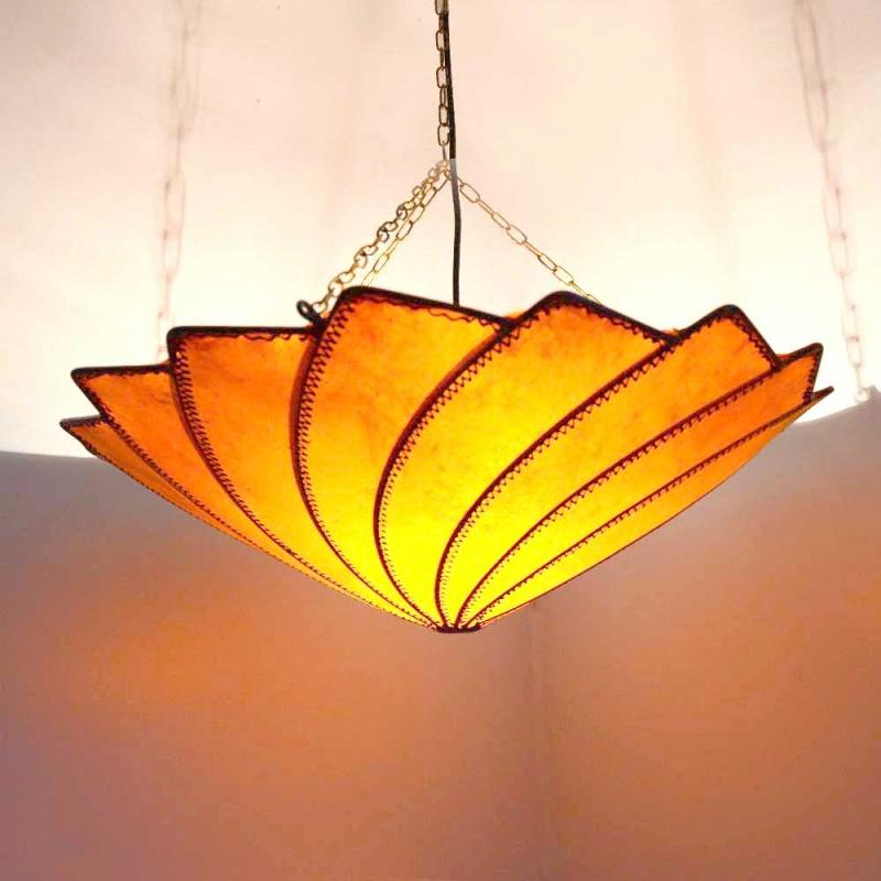 Arabische Lampe aus Ziegenleder D51cm