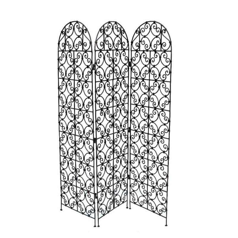 Arabischer Paravent Jappy aus Eisen 100 % Handarbeit H 180 cm