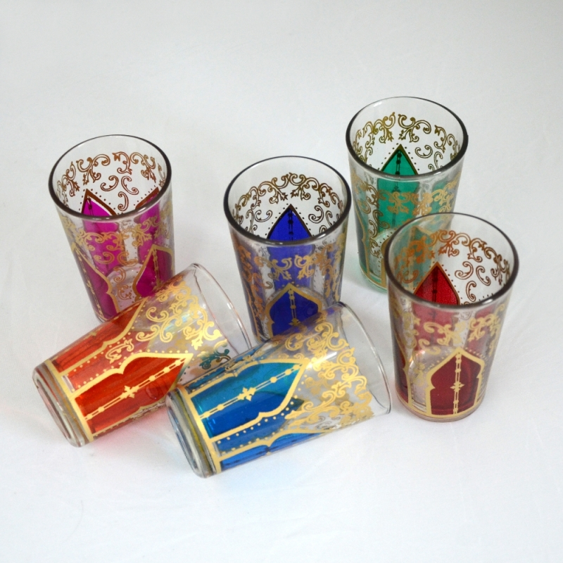 Marokkanische Teegläser TG02 6 Stück