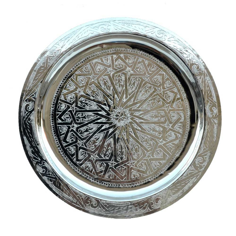 Arabisches Teetablett Tradition – Silber D 40 cm