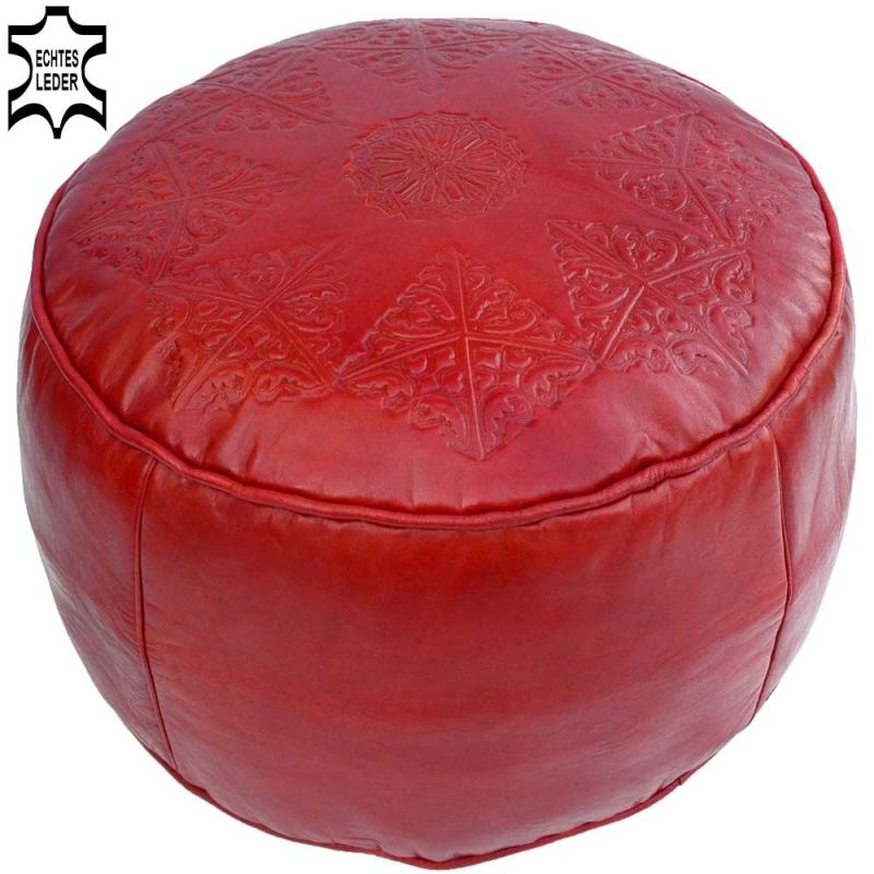 Arabisches Leder Sitzkissen LSR5 Rot