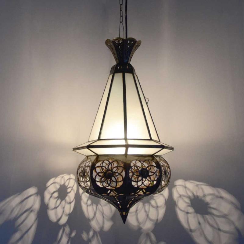 Orientalische Deckenlampe Fishes Milk H 55 cm
