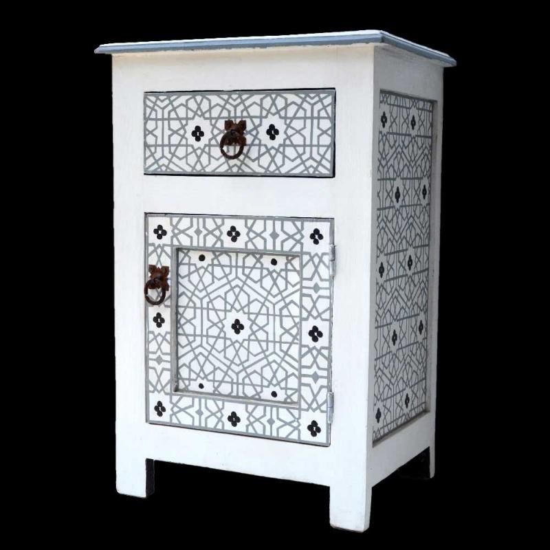 Orientalische Kommode Weiß