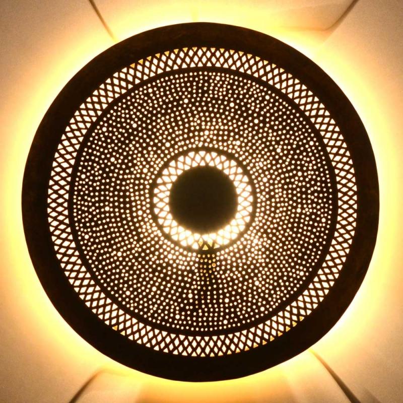 Orientalische Wandlampe aus Messing M 50