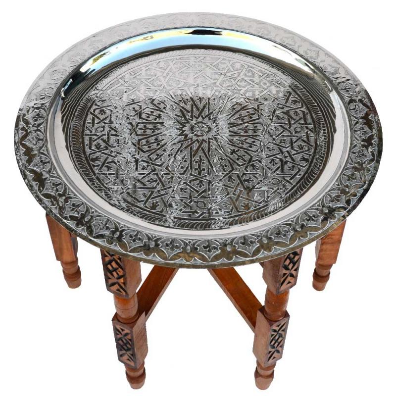 Arabischer Teetisch Dakar Silber D 80 cm