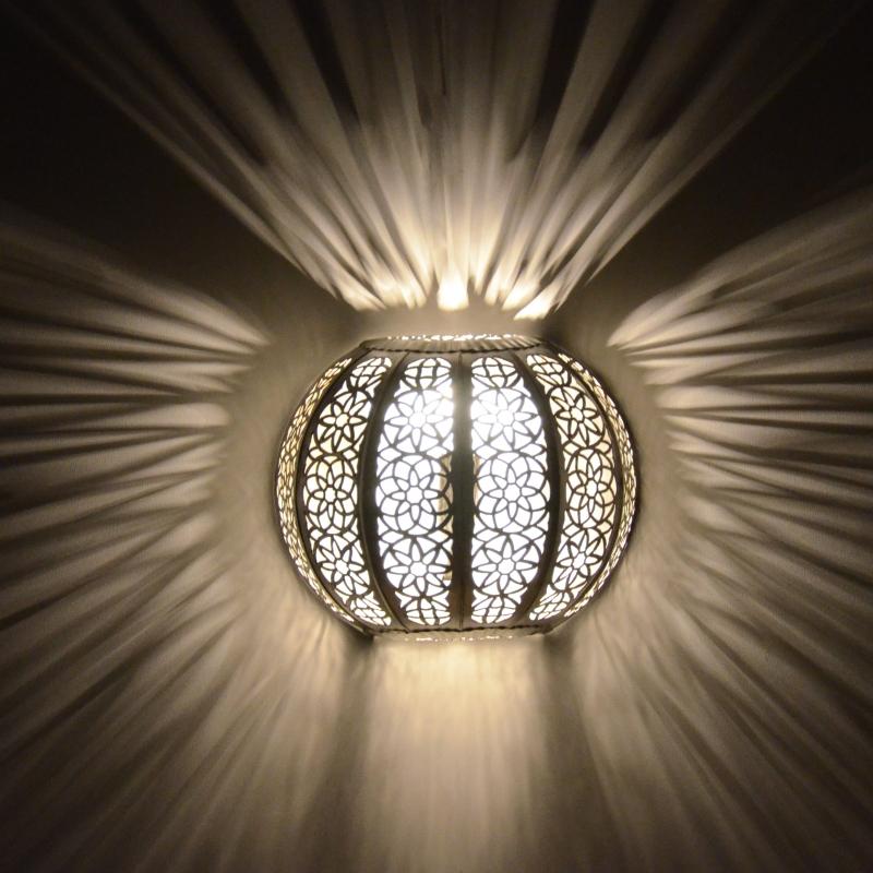 Orientalische wandlampe kwks silber l for Orientalische wandlampen metall