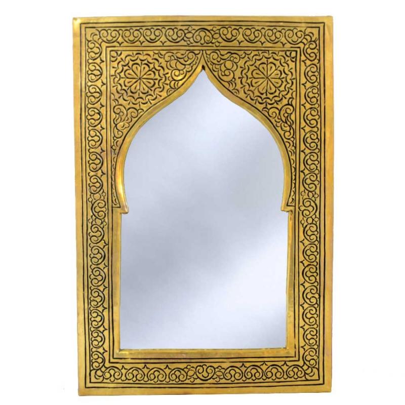Marokkanischer Messing-Spiegel  S03