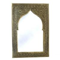 Marokkanischer Spiegel S08 H28 cm Silber