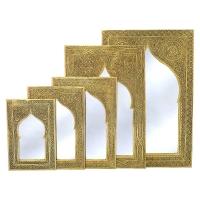 Taschenspiegel Rae – Messing H 13 cm