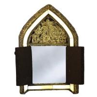 Afrikanischer Spiegel Zalo – Vollholz / Messing H 24,50 cm