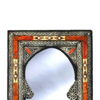 Orientalischer Spiegel Kairo Small – Orange / Weiß / Mayshort H 60 cm
