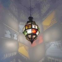 Orientalische Lampe Qwas Bunt H 55 cm