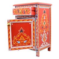 Marokkanische Kommode Namika Vollholz Handbemalt H 68 cm