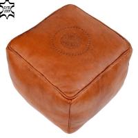 Arabisches Sitzkissen Kurir – Braun / Echtes Leder
