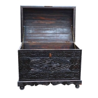 Arabische Truhe XL Koba aus Zedernholz 100 % Handarbeit H 65 cm