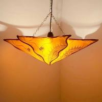 Orientalische Lampe aus Ziegenleder LHS-Orange