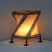 Leder Windlicht aus Marrakesch WO6